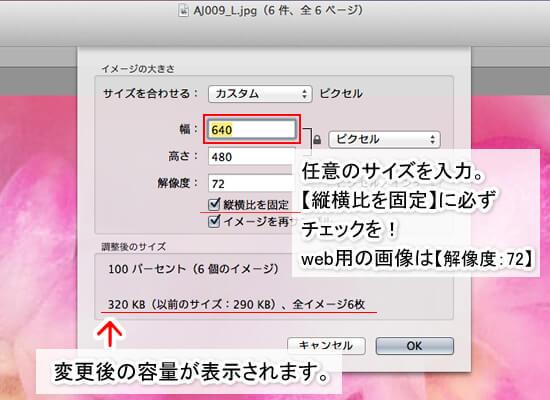 macで写真を小さく