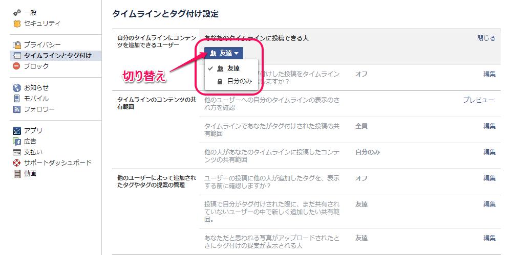Facebookタグ付け5